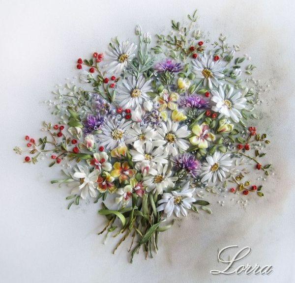 Лора Коровина: вышивка атласными лентами