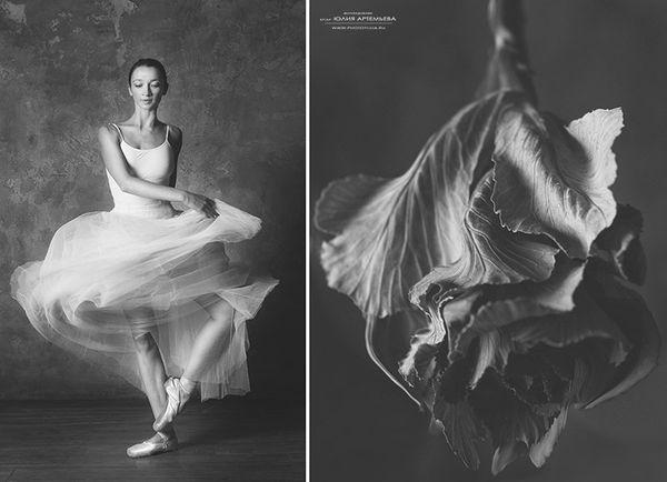 Юлия Артемьева - цветы и балерина