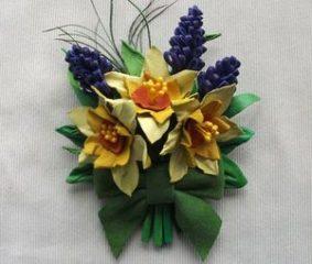 брошки в виде цветов - миниатюра