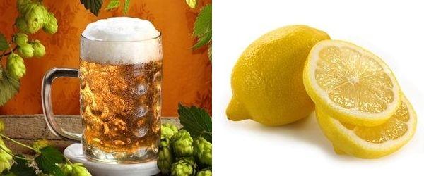 пиво и лимон